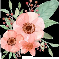 花模様の水彩画